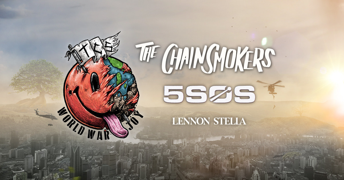 the chainsmokers announce world