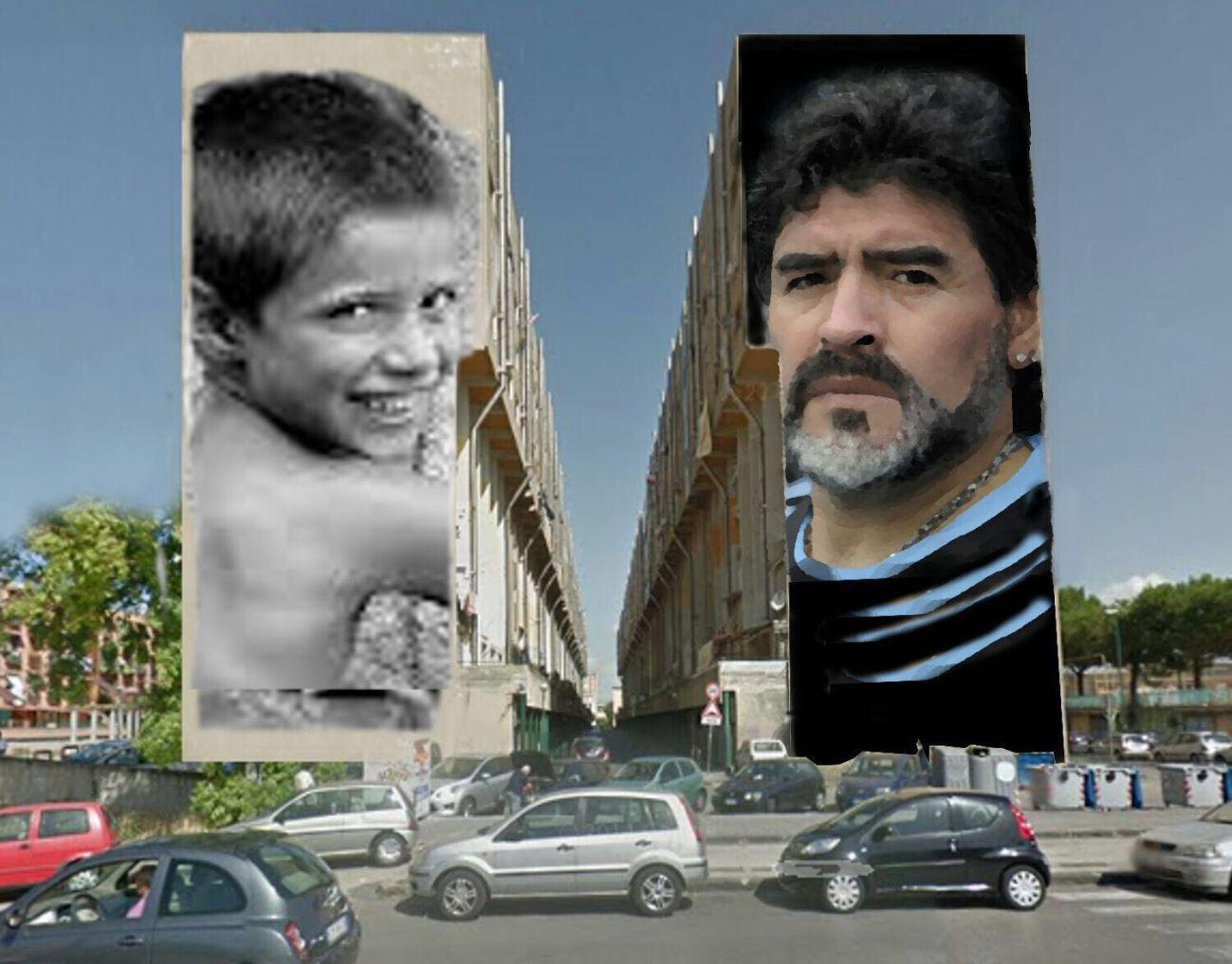 via taverna del ferro san giovanni murales jorit agoch diego maradona