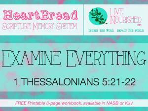 HeartBread: Examine Everything {+ free printable workbook}