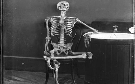 Picture of Skeleton Reclining in Chair
