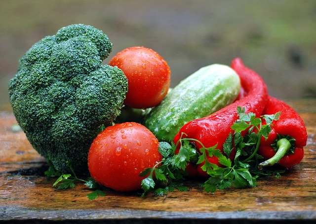 Vegetables on Chopping Board