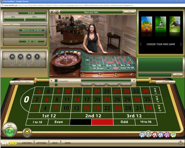 3 playing online live roulette