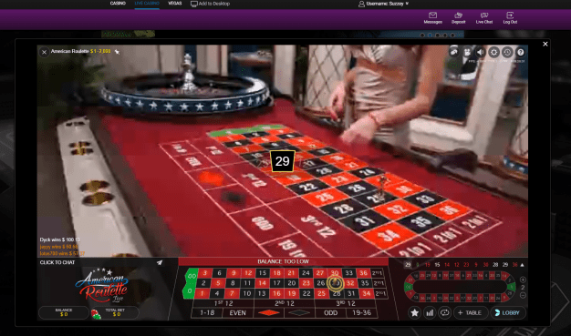 Jackpot Casino- Live Roulette in progress