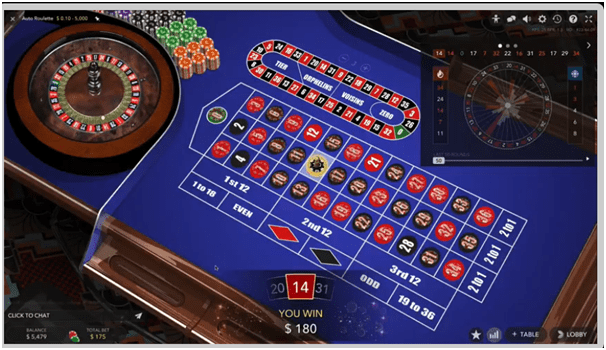 Types of Bets in Live Auto Roulette
