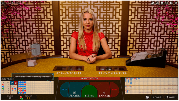 Live Baccarat Control Squeeze