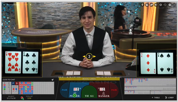 Live Baccarat eSqueeze how to play at live casino