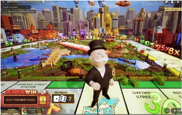 Bonus at Live Monopoly