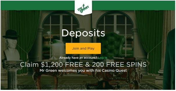 Mr green casino deposits