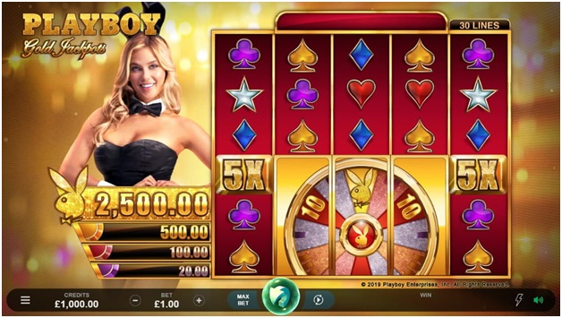 Playboy Gold Jackpots- Symbols and Game Features