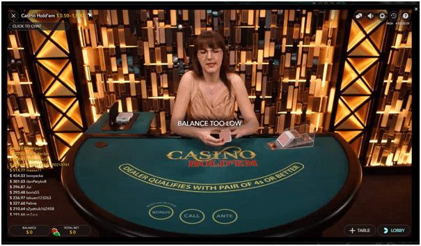 Ruby Fortune live dealer games