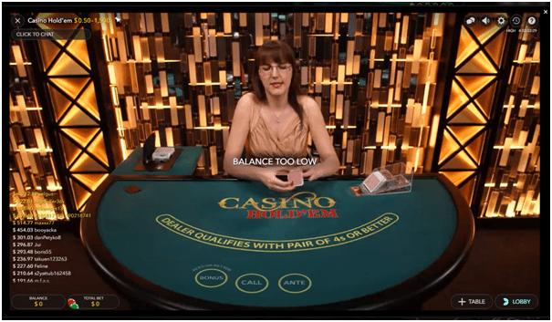 Ruby Fortune live dealer games