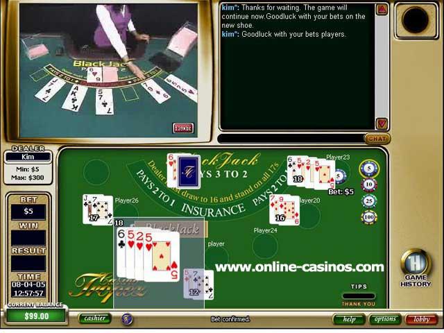 Live Blackjack Casino Tropez