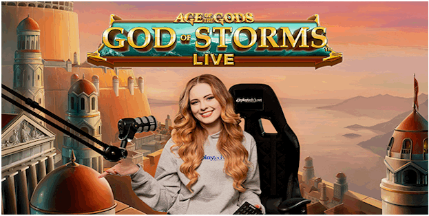 play Age of the Gods God of Storms Live Game at Canadian live casino