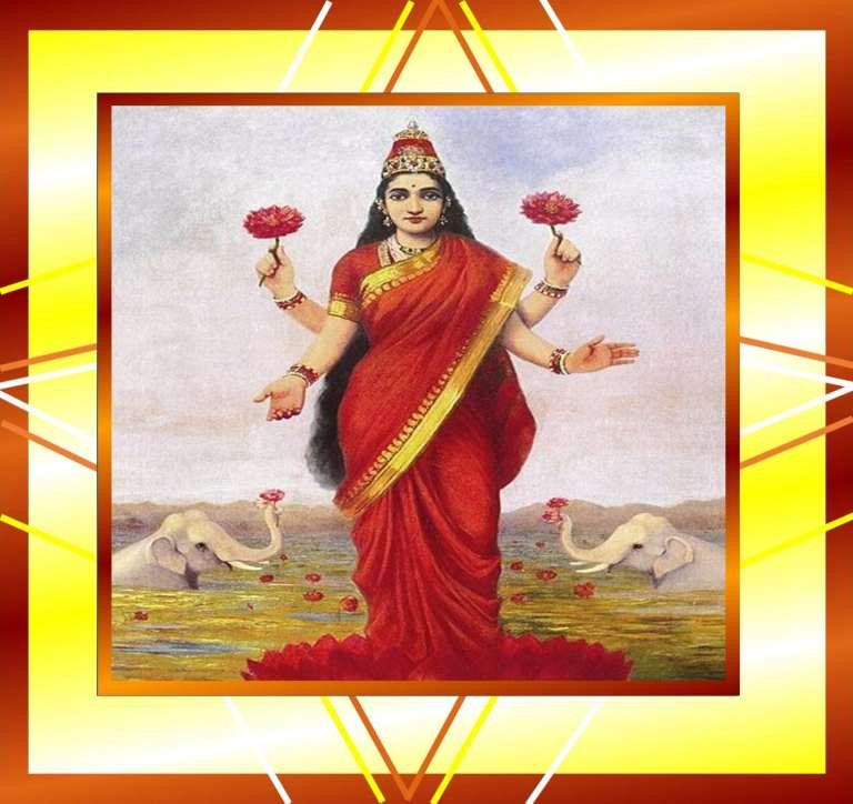Mahalakshmi ji in Red Saree