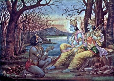 Lord Krishna orders Mayasura to build a palace for Arjuna