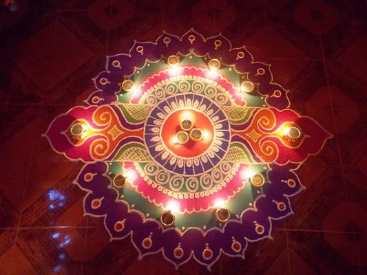 Rangoli for Grah Pravesh Puja