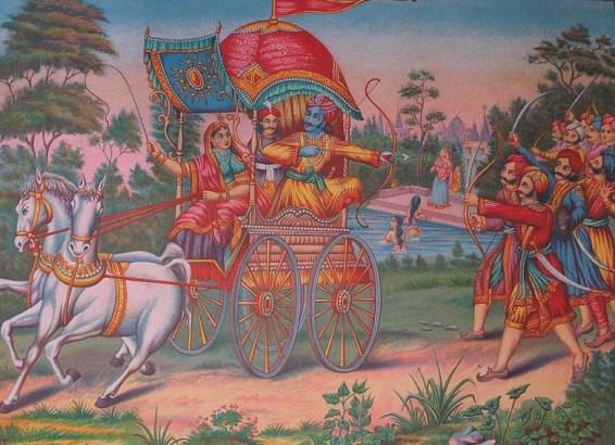 Subhadra and Arjuna run away with Lord Krishna blessings