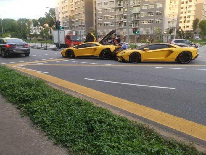 Lamborghini Aventador Cars Crash Singapore