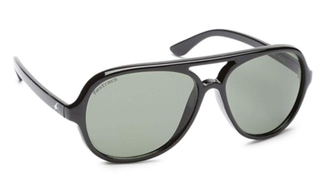 Black Aviator Fastrack Men Sunglasses