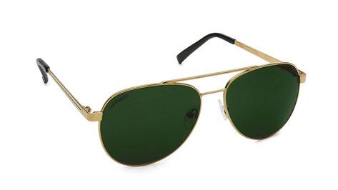 Gold Aviator Fastrack Unisex Sunglasses