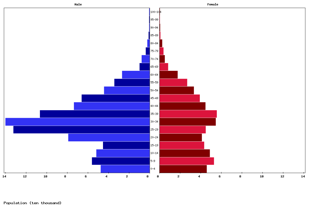 medium resolution of bahrain age structure and population pyramid