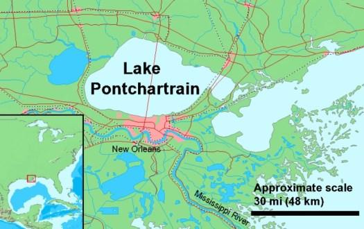 map with Lake Pontchartrain