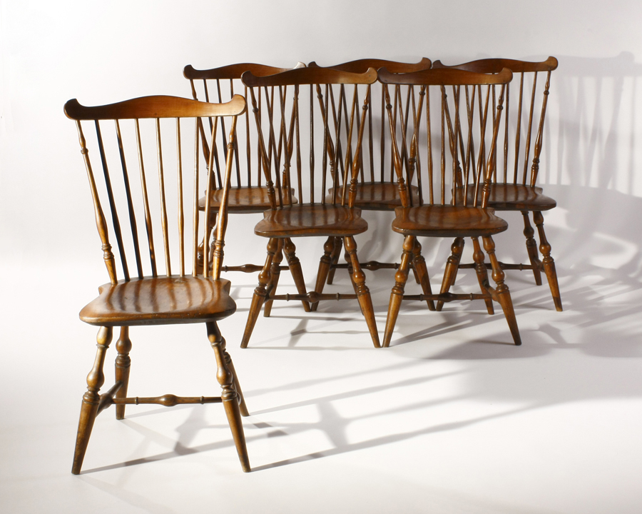 Set Of Six Tracy Fanback Windsor Chairs