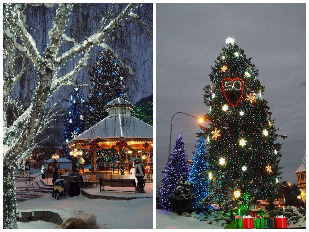 Expat Escapades December - Christmas lights in Leavenworth Washington - Live Recklessly