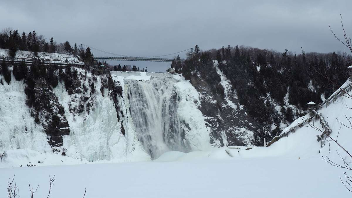 Off season travel at Montmorency Falls Quebec