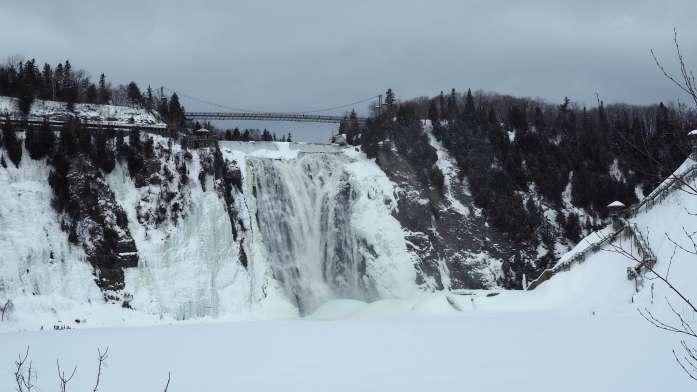 Off season travel at Montmorency Falls Quebec