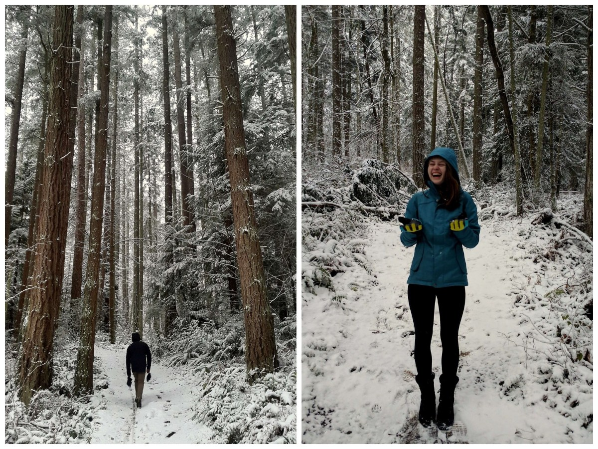 February Expat Escapades 2017 - Snow in Anacortes Cranberry Lake - Live Recklessly