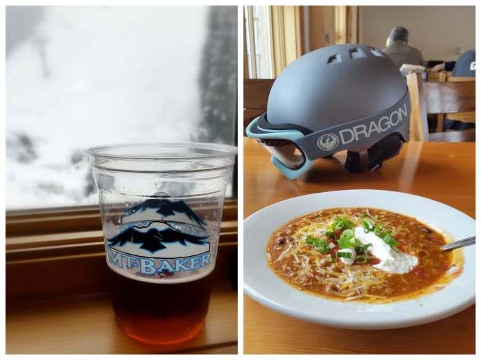Food at Ravens Hut Mt Baker - Live Recklessly