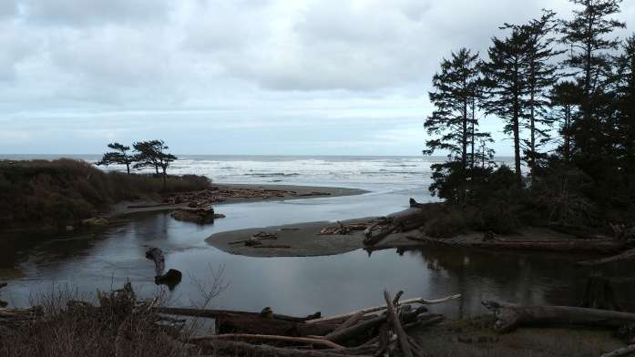 Kalaloch Creek views from Kalaloch Lodge Washington Olympic National Park road trip