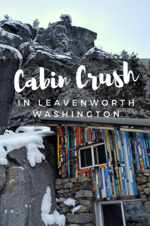 This rustic cabin in Leavenworth is the ultimate cabin crush for your Washington getaway - especially in winter! It features epic alpine views, a private waterfall and outdoor hot tub. Read more at www.liverecklessly.com