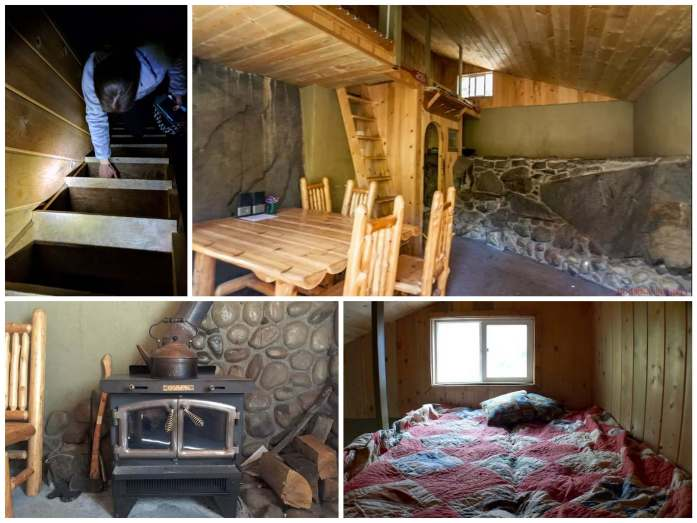 Inside the rustic cabin in Leavenworth Washington - Live Recklessly