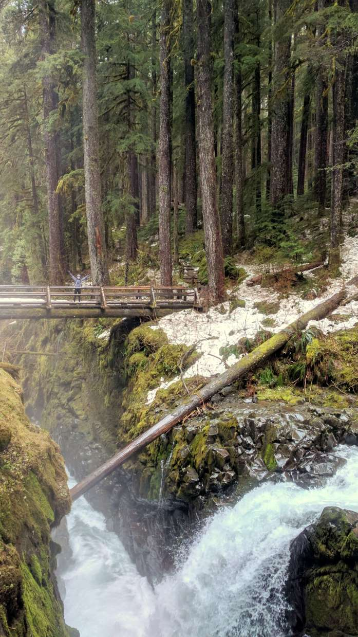 Sol Duc Falls in Olympic National Park road trip