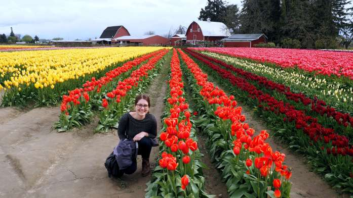 Dani at Tulip Town Skagit Valley