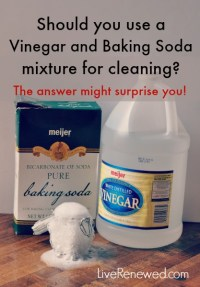 Homemade Cleaner Using Vinegar And Baking Soda  Homemade