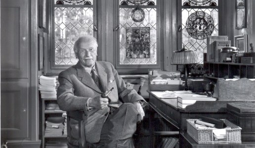 Carl Jung in his study