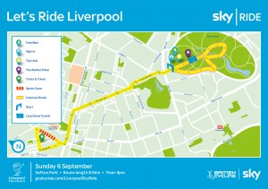 Sky Ride Liverpool Route map 2015