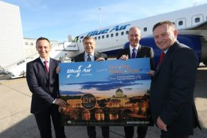 Partners celebrate the launch of the new flights from Liverpool Airport
