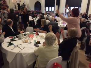 Residents from Carnarvon Court enjoy the Christmas Party