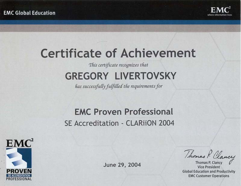 Gregory Livertovsky Resume