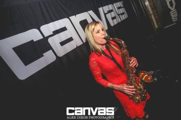 Claire Manners Saxophonist at Canvas Loft Bar Bournemouth with DJ