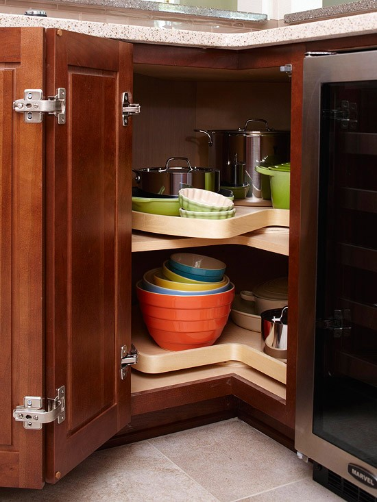 how to deal with the blind corner kitchen cabinet  live simply by,Corner Kitchen Cabinet Organizer,Kitchen cabinets