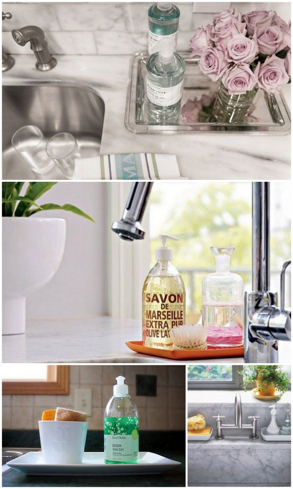 One Tip Tuesday: Corral Kitchen Sink Supplies | Live Simply by Annie