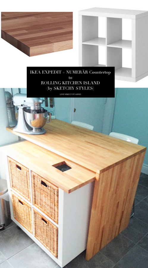 Kitchen Island On Wheels Ikea: 10 Totally Ingenious, Ridiculously Stylish IKEA Hacks (2