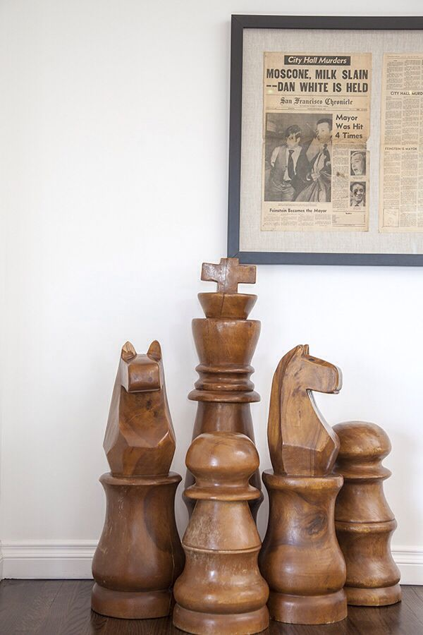 Oversized chess pieces--too cool.