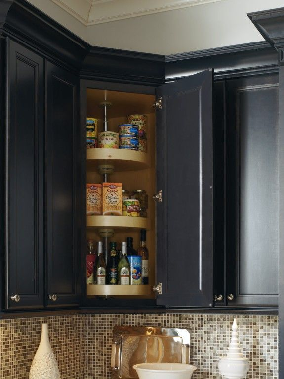 Upper Corner Kitchen Cabinet Solutions | Live Simply by Annie