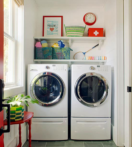 The Ideal Laundry Room Pedestal Washer Dryer Live Simply by Annie